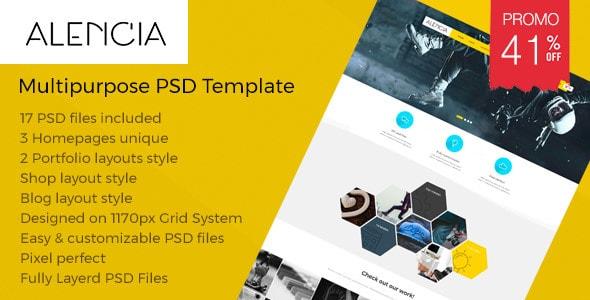 Alencia - Multi-Purpose PSD Template