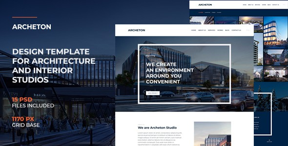 Archeton | Interior Design & Architecture PSD Template