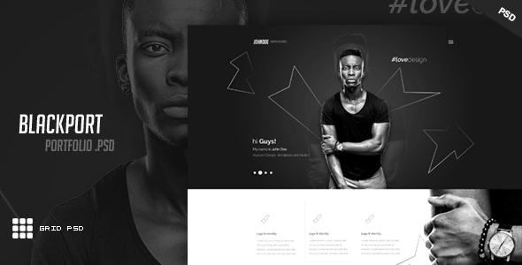 BlackPort - Personal Portfolio & Resume PSD Template