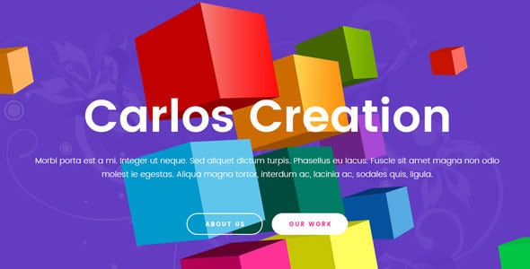 Carlos | Creative Agency PSD Template