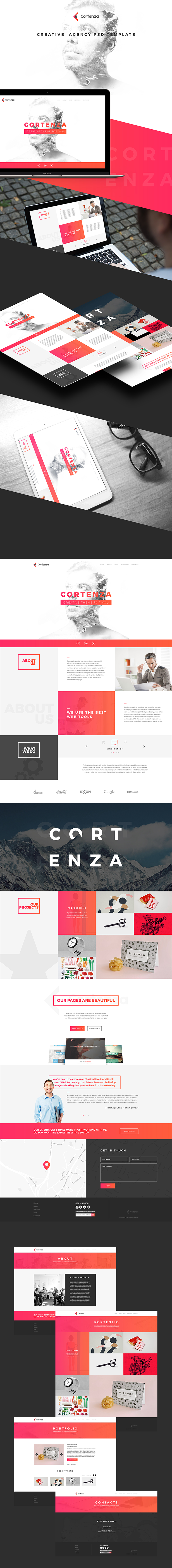 Cortenza - Creative Agency PSD Template - 1