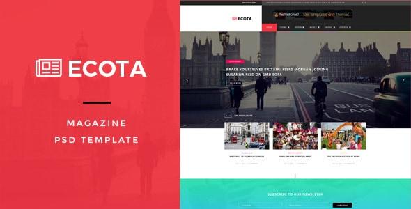 Ecota - Premium Magazine PSD Template