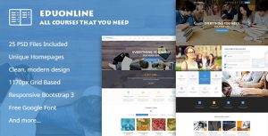 Eduonline - Multipurpose Business PSD Template