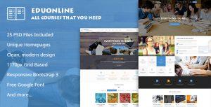 Eduonline - Multipurpose Business PSD Template