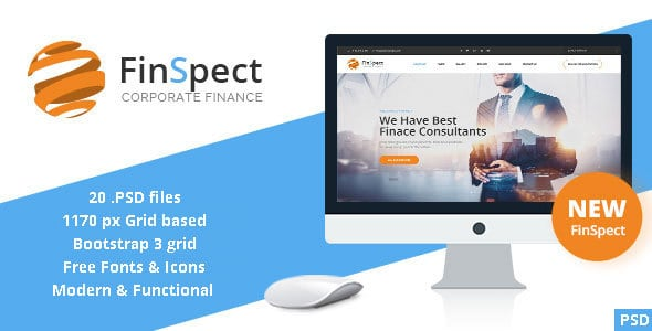 FinSpect - Business PSD Template