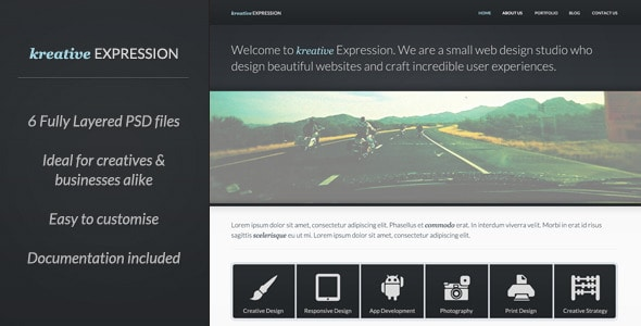 Kreative Expression - Creative PSD Template