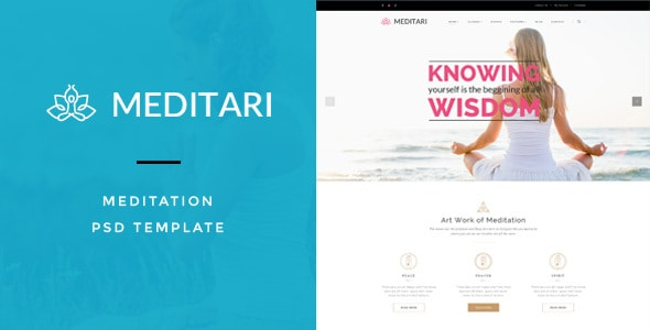 Meditary - Mediatation PSD Template