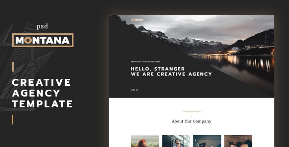 Montana - modern and creative One Page Template