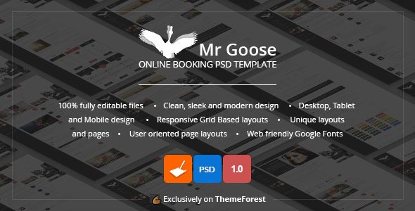 Mr Goose - Creative PSD Template