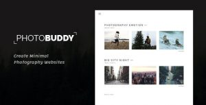 Photobuddy - Photography PSD Template