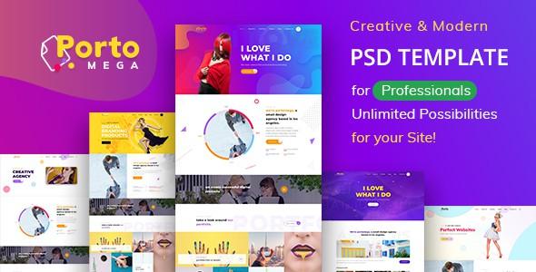 Portomega - Multipurpose Portfolio PSD Template