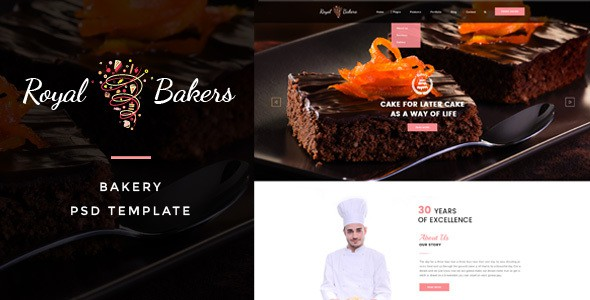 Royal Bakers - Cakery PSD Template