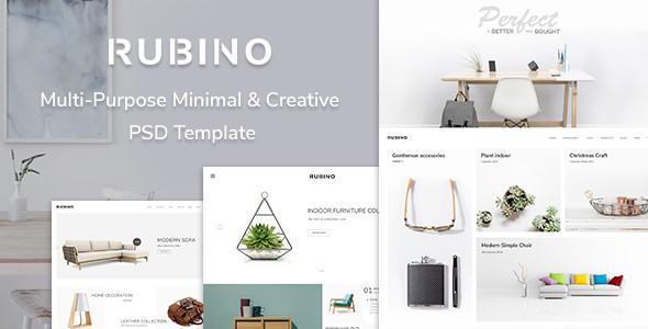 Rubino - Minimal & Creative PSD Template