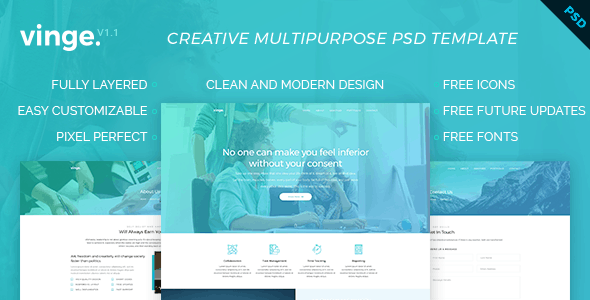 Vinge - Multi-Purpose PSD Template