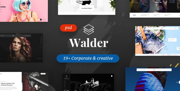 Walder - Creative & Clean Multipurpose Template
