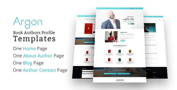 Argon - Book Author Portfolio, Landing, Blog PSD Template