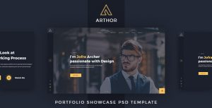 Arthor - Creative Portfolio Showcase PSD Template