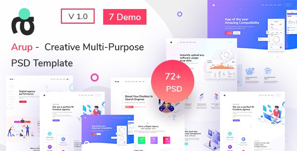 Arup - Creative Multipurpose PSD Template