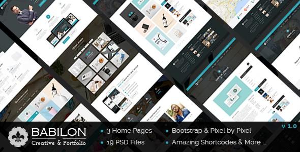 Babilon - Creative & Portfolio PSD Template