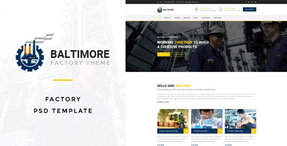 Baltimore : Factory PSD Template