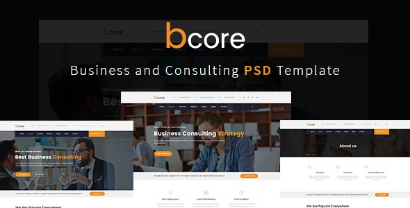 bcore - Business Consulting and Professional Services PSD Template