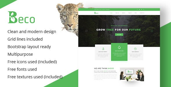 Beco - Multi-Purpose & Ecology Company Template