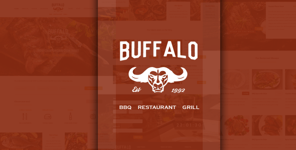 Buffalo Restaurant PSD Template