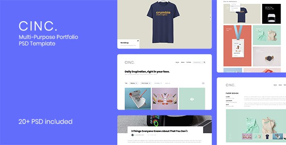 Cinc - Multi-Purpose Portfolio PSD Template