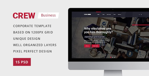 Crew — Business, Corporate Portfolio & Blog PSD Template