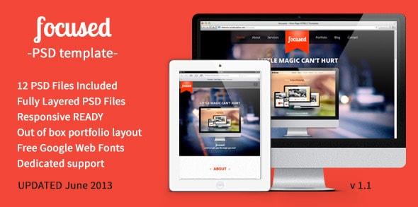 focused - OnePage MultiPurpose PSD Template