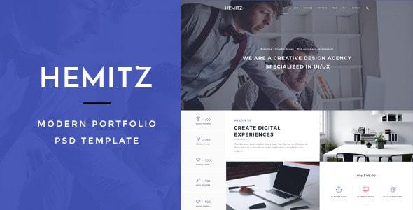 Hemitz - Modern Portfolio PSD Template