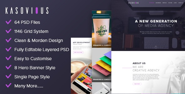 Kasovious PSD Template