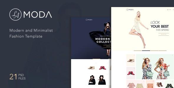 LaModa Fashion Template PSD