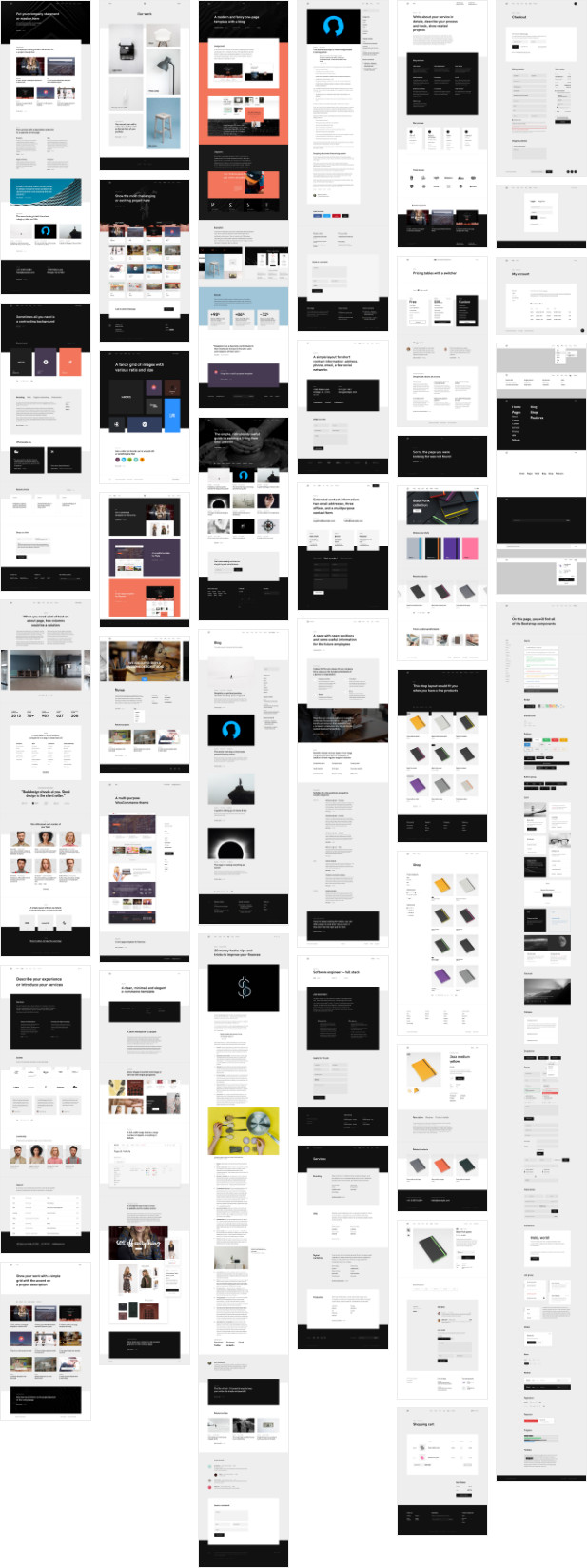 All essential pages plus WooCommerce shop