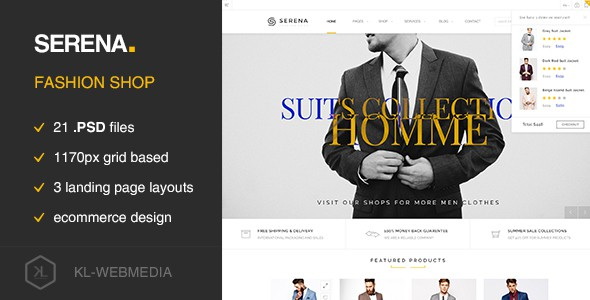 Serena - Fashion eCommerce PSD Template