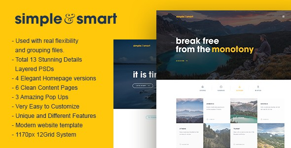 Simple and Smart PSD Template