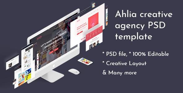 Ahlia - Creative Agency PSD Template