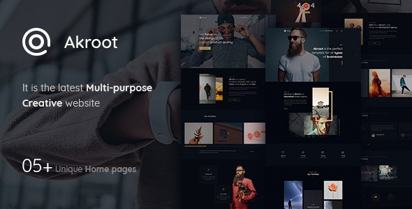 Akroot | It is the Multi-Purpose Creative PSD Template