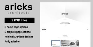 Aricks Architecture PSD template