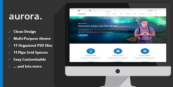 aurora | Multipurpose PSD Theme