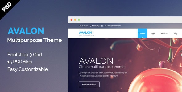 Avalon - Multipurpose PSD Theme
