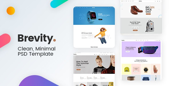 Brevity - Mutilpurpose eCommerce PSD Template