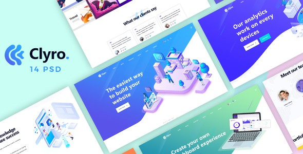 Clyro - Isometric Agency PSD Template