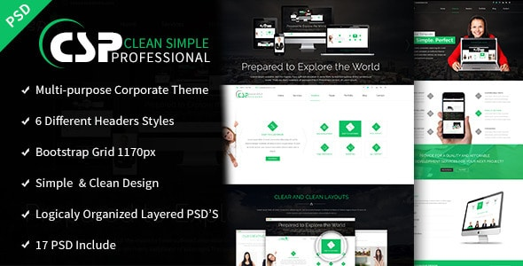 CSP - Multipurpose PSD Template