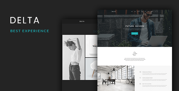 Delta - Onepage PSD Template