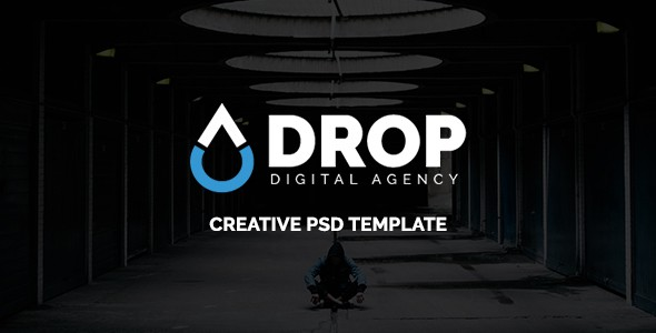 Drop - Digital Agency PSD Template