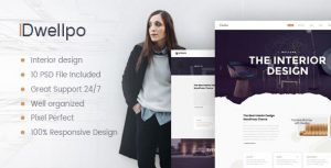 Dwellpo – Interior Design PSD Template