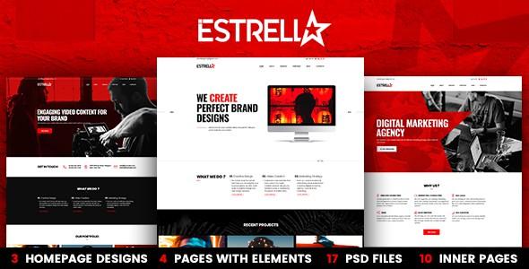 Estrella 3-in-1 PSD Template