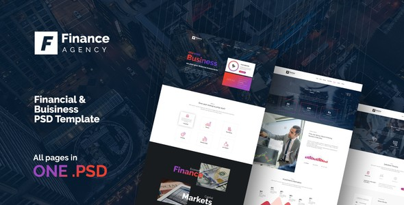 FinAg - Creative &  Finance Agency PSD Template