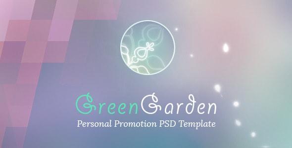 Green Garden - Personal PSD Template